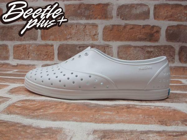 《下殺$1499》BEETLE PLUS 全新 2015 NATIVE JERICHO SWS 限量 全白 白色 藍標 超輕量 女鞋 GLM04W-1999 0
