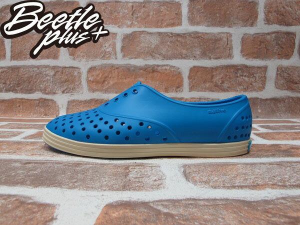 《下殺$1499》女鞋 BEETLE PLUS 現貨 全新 2014 春夏 NATIVE JERICHO GALAXY BLUE 蠟筆藍 奶油底 超輕量 洞洞鞋 GLM04W-402 0