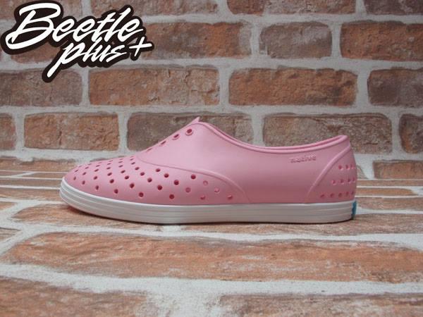 女鞋 BEETLE PLUS 現貨 全新 NATIVE JERICHO 限量 亮粉 粉紅 白粉 白底 草莓牛奶 藍標 超輕量 女鞋 GLM04W-5951 0