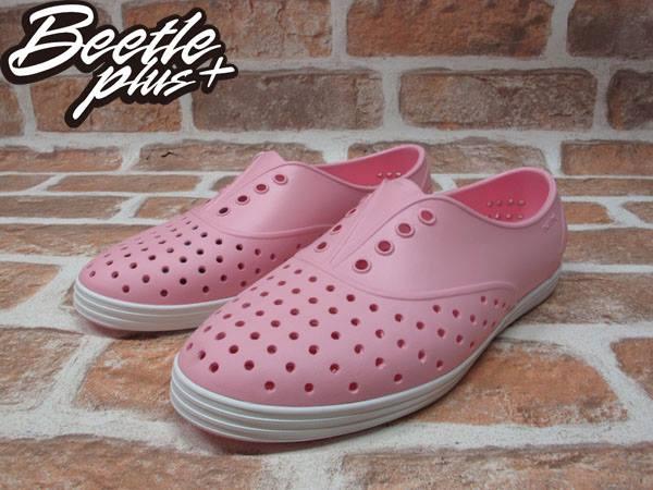 女鞋 BEETLE PLUS 現貨 全新 NATIVE JERICHO 限量 亮粉 粉紅 白粉 白底 草莓牛奶 藍標 超輕量 女鞋 GLM04W-5951 1