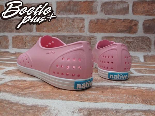 女鞋 BEETLE PLUS 現貨 全新 NATIVE JERICHO 限量 亮粉 粉紅 白粉 白底 草莓牛奶 藍標 超輕量 女鞋 GLM04W-5951 2