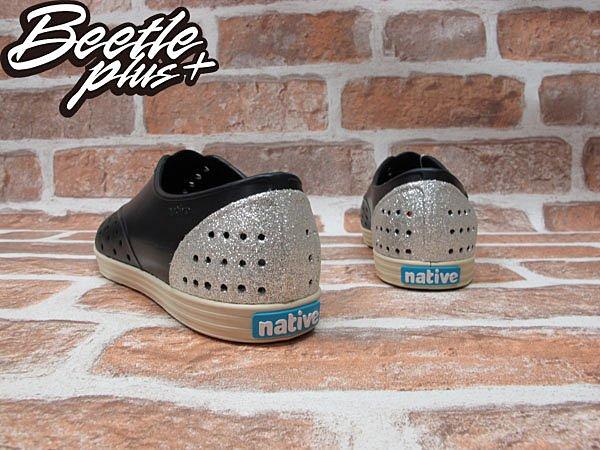 《限時6折免運》女鞋 BEETLE PLUS 現貨 全新 NATIVE JERICHO TINFOIL SLIVER 黑銀 銀蔥 亮片 超輕量 GLM04WP-035 2