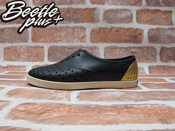 女鞋 BEETLE PLUS 現貨全新 NATIVE JERICHO VENETIAN GOLD 黑金 金蔥 亮片 超輕量 GLM04WP-712 0