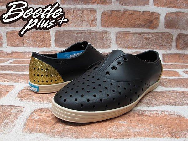 女鞋 BEETLE PLUS 現貨全新 NATIVE JERICHO VENETIAN GOLD 黑金 金蔥 亮片 超輕量 GLM04WP-712 1