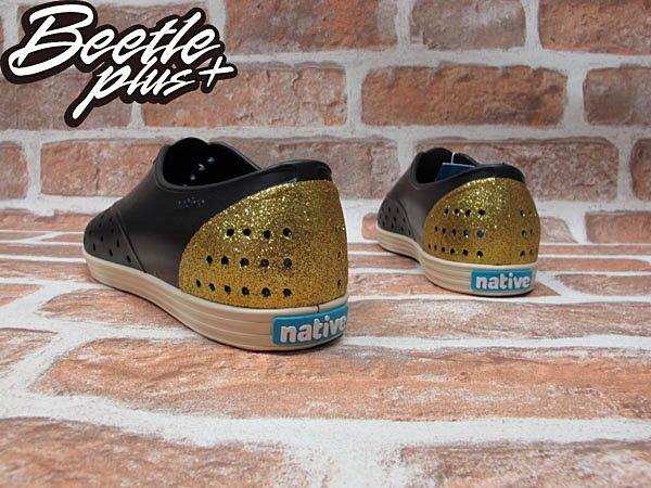 女鞋 BEETLE PLUS 現貨全新 NATIVE JERICHO VENETIAN GOLD 黑金 金蔥 亮片 超輕量 GLM04WP-712 2