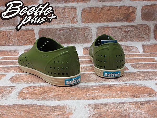 女鞋 BEETLE PLUS 現貨 全新 NATIVE JERICHO JUICE GREEN 蠟筆綠 超輕量 奶油底 洞洞鞋 GLM04W-374 2