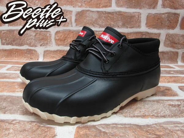 BEETLE PLUS 2014 全新 NATIVE JIMMY MID JIFFY BLACK 黑 奶油底 短筒 獵鴨靴 超輕量 防水鞋 GLM15B-001 1