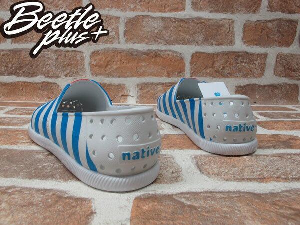 《下殺$1499》BEETLE PLUS 全新 2014 春夏 NATIVE VERONA SHELL WHITE  /  GALAXY BLUE STRIPES 藍白 條紋 海軍風 GLM18-106 2