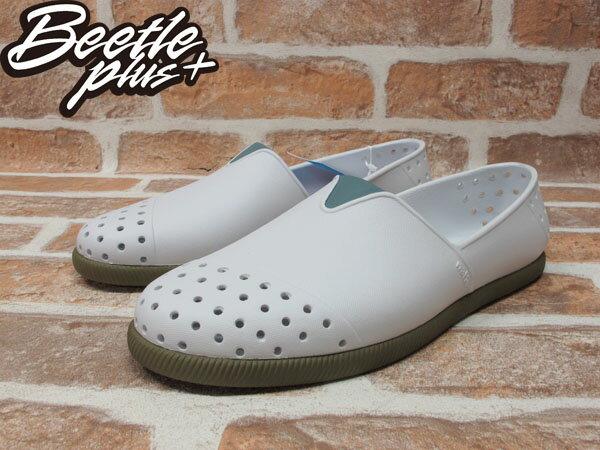 《下殺$1499》BEETLE PLUS 2014 NATIVE VERONA 水手鞋 超輕量 SHELL WHITE / BOOTCAMP BROWN 白 墨綠咖啡 GLM18-104 1