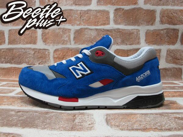 BEETLE PLUS 全新 NEW BALANCE 寶藍 藍紅 麂皮 慢跑鞋 ABZORB 霓虹燈 刺繡 CM1600BB 0