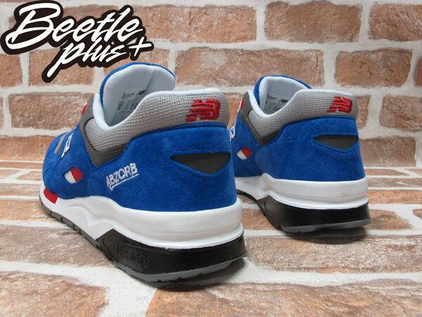 BEETLE PLUS 全新 NEW BALANCE 寶藍 藍紅 麂皮 慢跑鞋 ABZORB 霓虹燈 刺繡 CM1600BB 2