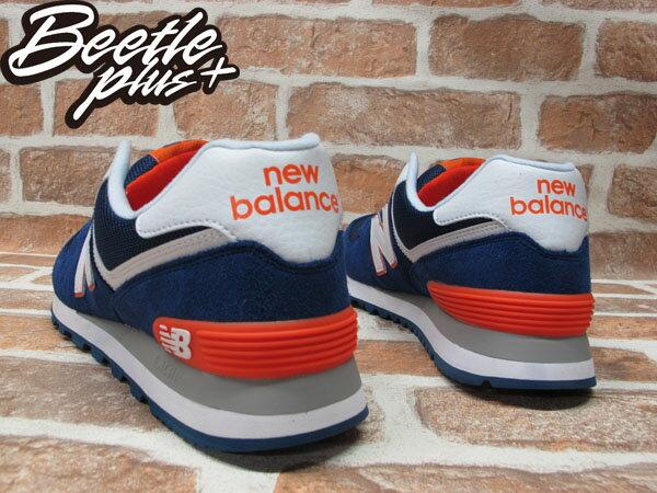 BEETLE PLUS 全新 NEW BALANCE 深藍 白 橘 海軍藍 麂皮 網面 慢跑鞋 ML574BWO 2