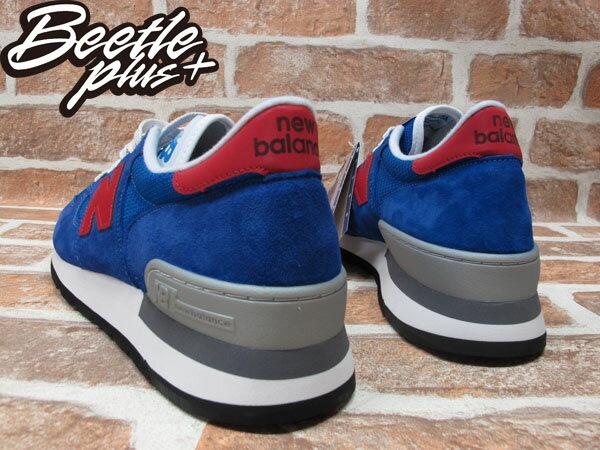 BEETLE PLUS 全新 NEW BALANCE 寶藍 紅N 慢跑鞋 麂皮 網面 30週年 英國限量 M990SB 2