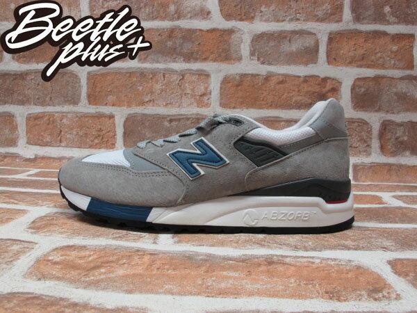 BEETLE PLUS NEW BALANCE 998 M998 RR 灰藍 麂皮 美國製 余文樂 慢跑鞋