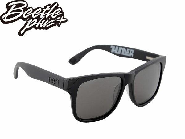 BEETLE PLUS 西門町實體店面 NEFF SUNGLASS THUNDER BLACK 亮面 全黑 抗UV 太陽眼鏡 E-03 0