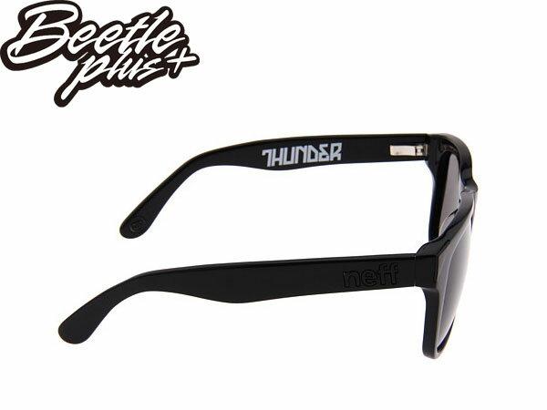 BEETLE PLUS 西門町實體店面 NEFF SUNGLASS THUNDER BLACK 亮面 全黑 抗UV 太陽眼鏡 E-03 1