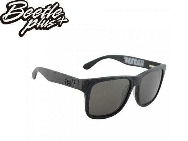 BEETLE PLUS 美國潮牌 NEFF THUNDER BLACK WOOD GRAIN 木紋 黑 太陽眼鏡 墨鏡