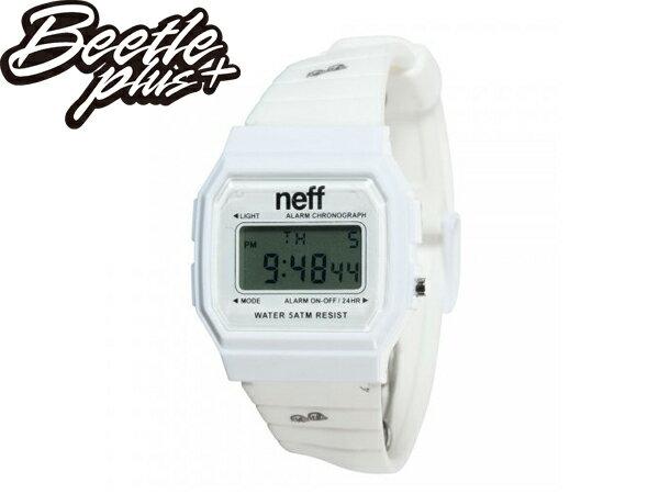 BEETLE 美國潮牌 NEFF FLAVA WATCH JUNK FOOD 漢堡 墨鏡 熱狗 白黑 黑白 電子錶 防潑水 SWATCH - 限時優惠好康折扣