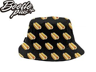 BEETLE NEFF HOT DOG BUCKET HAT 滿版 熱狗 LOGO 大亨堡 黑色 漁夫帽 非STUSSY