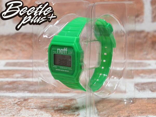 BEETLE PLUS 西門町經銷 現貨 美國潮牌 NEFF FLAVA GREEN WATCH 螢光綠 電子錶 防潑水手錶 NF-22 0