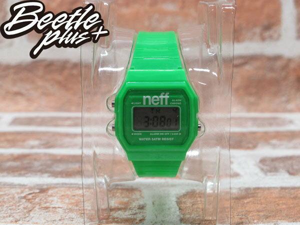 BEETLE PLUS 西門町經銷 現貨 美國潮牌 NEFF FLAVA GREEN WATCH 螢光綠 電子錶 防潑水手錶 NF-22 1