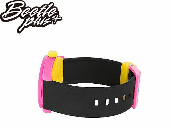BEETLE PLUS 全新 美國品牌 NEFF DAILY WATCH CYAN PINK BLACK 藍粉 黑黃 黃色指針 圓錶 指針手錶 NF-34 1