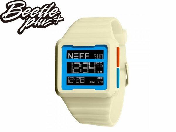 BEETLE PLUS 美國潮牌 NEFF ODYSSEY WATCH WHITE 三顯 格式 卡其 藍橘 電子錶 防潑水 手錶 SWATCH