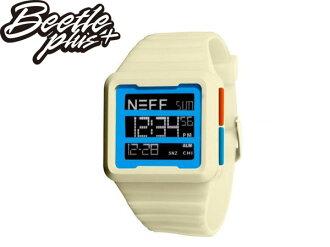 《全面下殺$799》BEETLE PLUS 美國潮牌 NEFF ODYSSEY WATCH WHITE 三顯 格式 卡其 藍橘 電子錶 防潑水 手錶 SWATCH