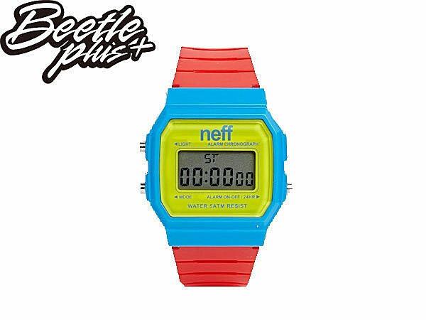 BEETLE PLUS NEFF FLAVA WATCH PRIMARY 黃 藍 紅 電子錶 防潑水手錶 NF-115 0