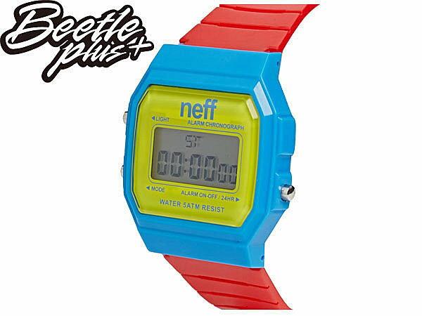 BEETLE PLUS NEFF FLAVA WATCH PRIMARY 黃 藍 紅 電子錶 防潑水手錶 NF-115 1
