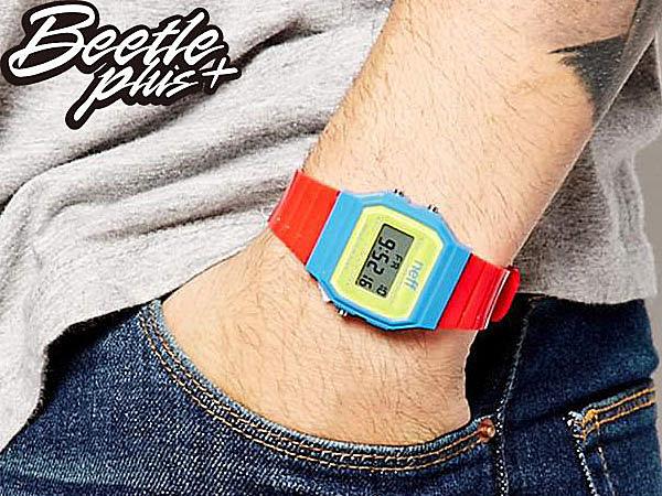 BEETLE PLUS NEFF FLAVA WATCH PRIMARY 黃 藍 紅 電子錶 防潑水手錶 NF-115 2