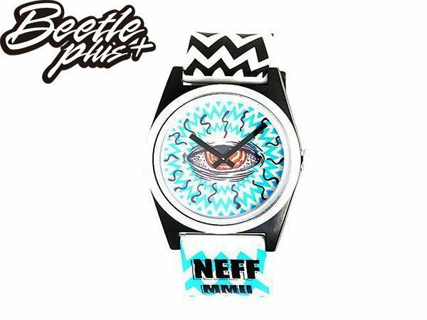 BEETLE PLUS NEFF DAILY WILD WATCH EYES 白藍 黑藍 閃電 鋸齒 眼睛 眼球 指針 圓錶 手錶 NF-123 - 限時優惠好康折扣