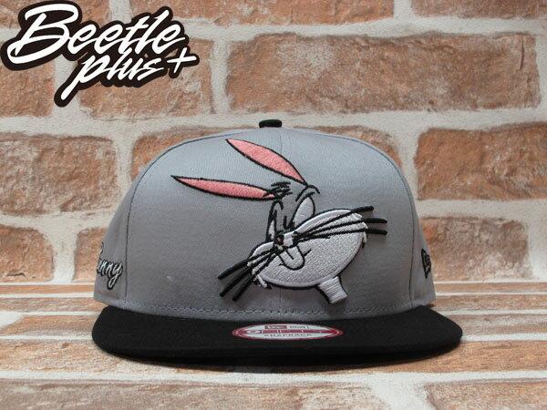 BEETLE PLUS 全新 NEW ERA SNAPBACK 兔寶寶 FACE BUNNY 卡通 電繡立體 灰黑 後扣棒球帽 NE-72 0