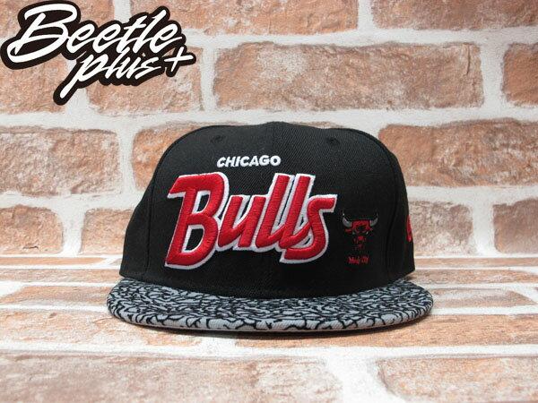 BEETLE PLUS 全新 NEW ERA NBA CHICAGO BULLS 芝加哥 公牛 黑灰 LOGO 爆裂紋 SNAPBACK 後扣棒球帽 NE-74 0