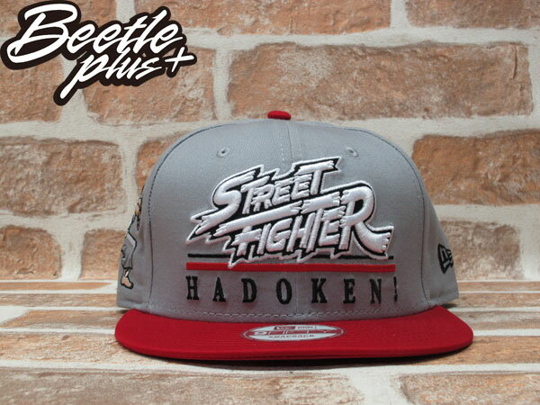 BEETLE PLUS 全新 NEW ERA STREET FIGHTER 快打旋風 THE HERO 文字 灰 紅 SNAPBACK 後扣棒球帽 NE-76 0