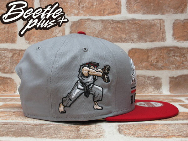 BEETLE PLUS 全新 NEW ERA STREET FIGHTER 快打旋風 THE HERO 文字 灰 紅 SNAPBACK 後扣棒球帽 NE-76 1