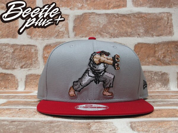 BEETLE PLUS 全新 NEW ERA STREET FIGHTER 快打旋風 THE HERO LOGO 灰 紅 SNAPBACK 後扣棒球帽 NE-77 0
