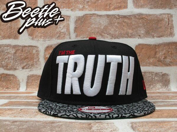 BEETLE PLUS 全新 NEW ERA I,M THE TRUTH LOGO 黑 爆裂紋 我是真理 SNAPBACK 後扣棒球帽 NE-78 0