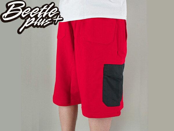 BEETLE NIKE BB HYBRID 6TH DORM SHORTS RED 紅黑 口袋 拉鍊 短褲 棉褲 球褲 0