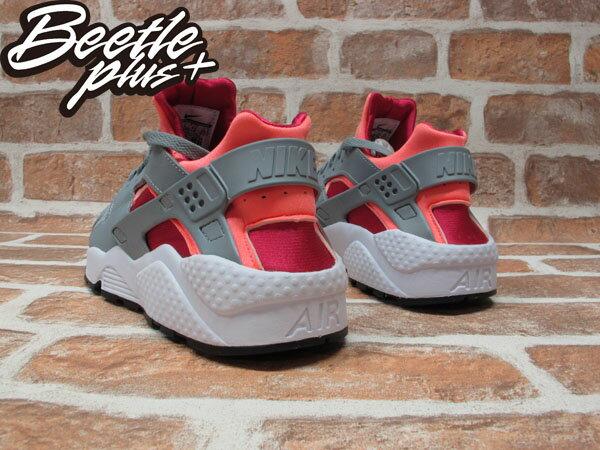 BEETLE PLUS WMNS NIKE AIR HUARACHE 橘紅 灰白 輕量 透氣 忍者鞋 慢跑鞋 634835-086 2