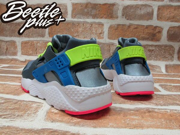 BEETLE PLUS NIKE AIR HUARACHE GS 鐵灰 藍黃 粉紅 女鞋 忍者鞋 654275-002 2