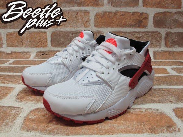 BEETLE+NIKE AIR HUARACHE RUN GS 白黑紅 慢跑鞋 公牛 女鞋 654275-102 1