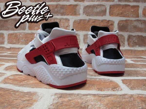 BEETLE+NIKE AIR HUARACHE RUN GS 白黑紅 慢跑鞋 公牛 女鞋 654275-102 2