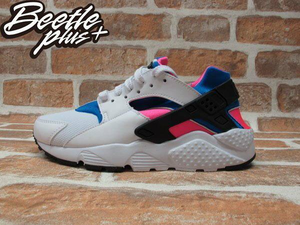 BEETLE NIKE AIR HUARACHE RUN GS 白粉藍 原版 OG 女鞋 白武士 忍者鞋 輕量 慢跑鞋 654275-104 0