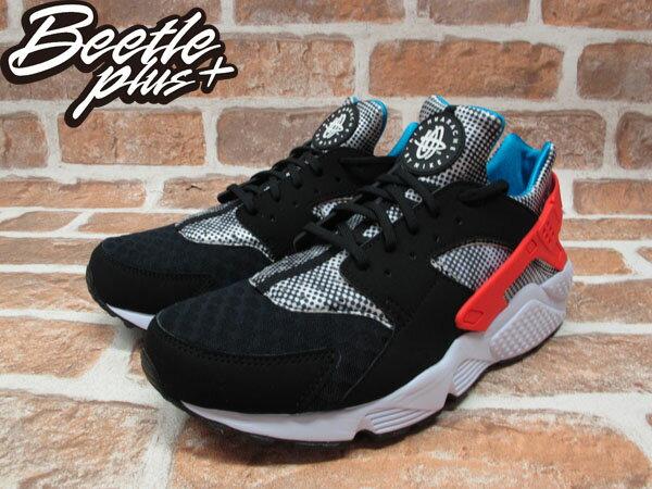 BEETLE PLUS NIKE AIR HUARACHE RUN FB QS 黑白 紅藍 波點 馬賽克 武士 慢跑鞋 忍者鞋 744486-001 1