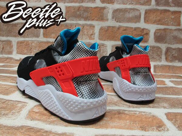 BEETLE PLUS NIKE AIR HUARACHE RUN FB QS 黑白 紅藍 波點 馬賽克 武士 慢跑鞋 忍者鞋 744486-001 2