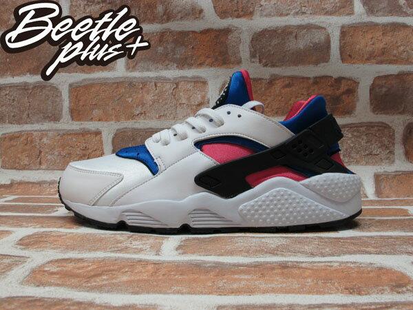 BEETLE PLUS 全新 NIKE AIR HUARACHE DYNAMIC PINK 白 粉紅 藍 NSW 318429-146 0