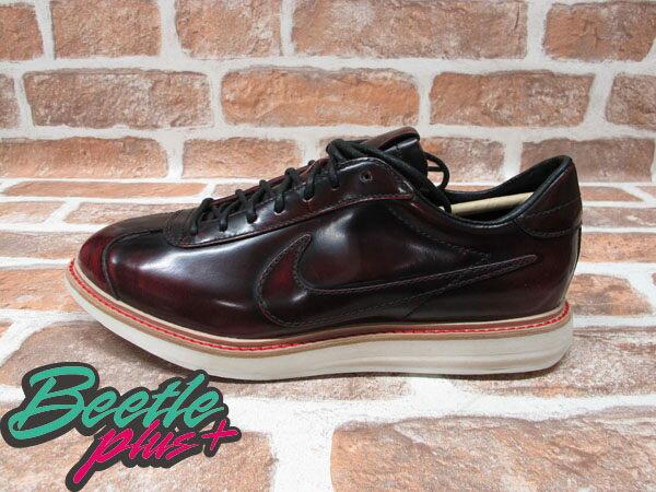 BEETLE PLUS 全新 NIKE SPORTWEAR 1972 QS NSW 車縫鞋底 皮革 皮鞋 酒紅 586367-600 0