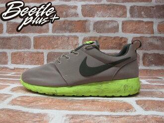 BEETLE PLUS NIKE ROSHE RUN QS 灰 螢光綠 渲染 大理石 男鞋 慢跑鞋 633054-200