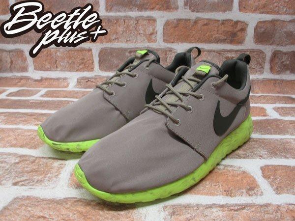 BEETLE PLUS NIKE ROSHE RUN QS 灰 螢光綠 渲染 大理石 男鞋 慢跑鞋 633054-200 1